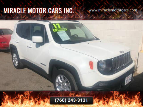 2017 Jeep Renegade for sale at Miracle Motor Cars Inc. in Victorville CA