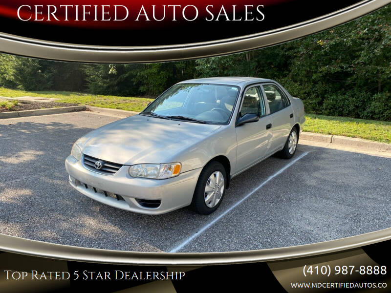 2001 Toyota Corolla for sale at CERTIFIED AUTO SALES in Severn MD