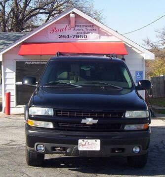 2003 Chevrolet Suburban for sale at PAUL'S PAINT & BODY SHOP in Des Moines IA