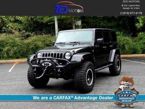 2014 Jeep Wrangler Unlimited for sale at Zed Motors in Raleigh NC