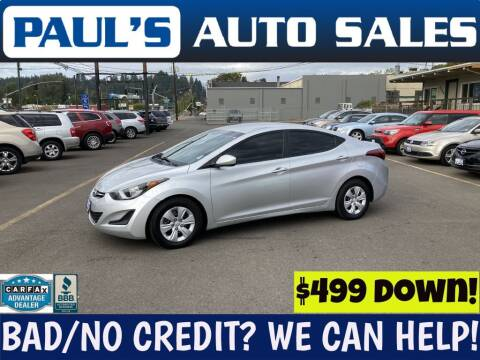 2016 Hyundai Elantra for sale at Paul's Auto Sales in Eugene OR