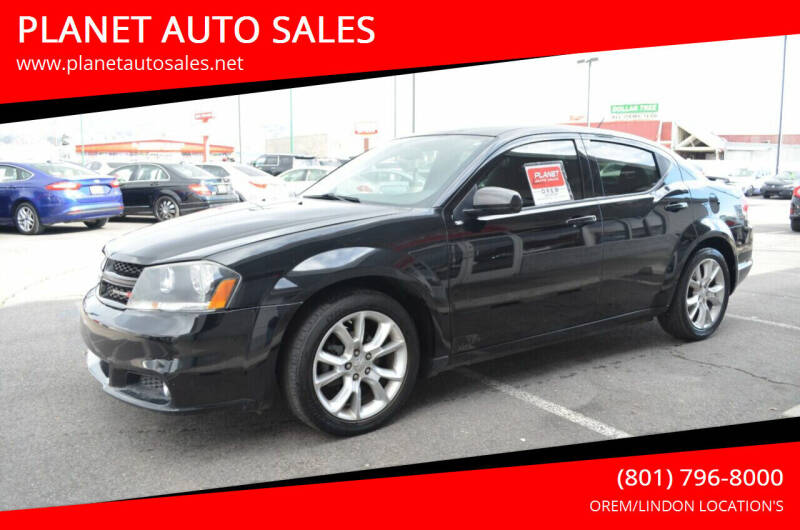 2014 Dodge Avenger for sale at PLANET AUTO SALES in Lindon UT