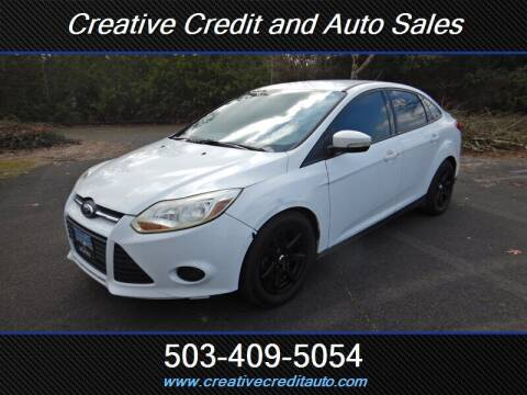 2013 Ford Focus for sale at Creative Credit & Auto Sales in Salem OR