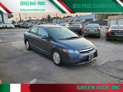 2006 Honda Civic for sale at Green Ride Inc in Nashville TN