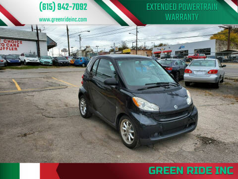 2010 Smart fortwo for sale at Green Ride Inc in Nashville TN