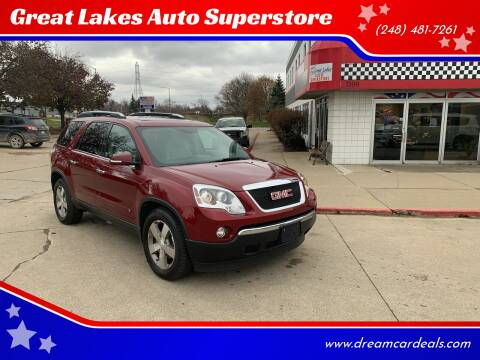 2009 GMC Acadia for sale at Great Lakes Auto Superstore in Pontiac MI