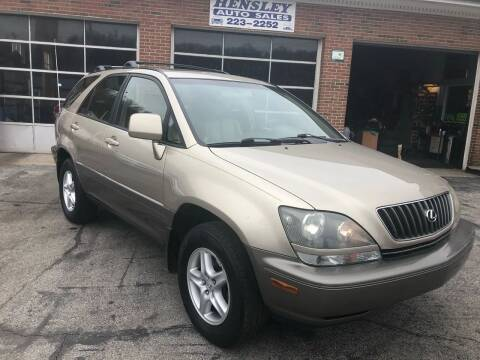 2000 Lexus RX 300 for sale at Hensley Auto Sales in Frankfort KY