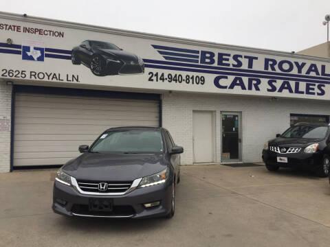 2014 Honda Accord for sale at Best Royal Car Sales in Dallas TX