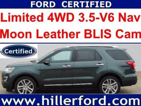 2016 Ford Explorer for sale at HILLER FORD INC in Franklin WI