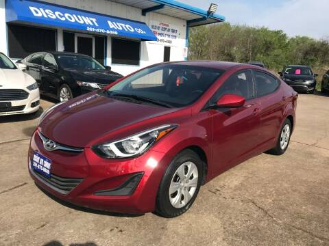 2016 Hyundai Elantra for sale at Discount Auto Company in Houston TX