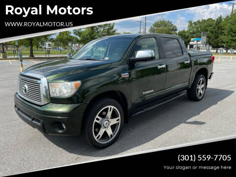 2010 Toyota Tundra for sale at Royal Motors in Hyattsville MD