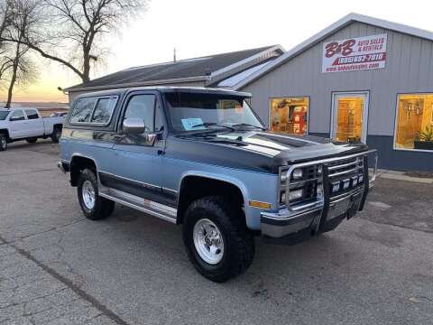 1990 Chevrolet Blazer for sale at B & B Auto Sales in Brookings SD