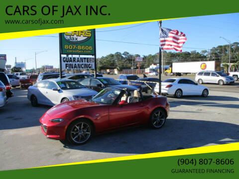2016 Mazda MX-5 Miata for sale at CARS OF JAX INC. in Jacksonville FL