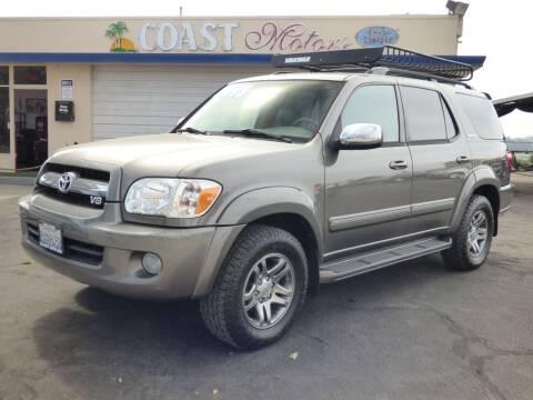 2007 Toyota Sequoia for sale at Coast Motors in Arroyo Grande CA