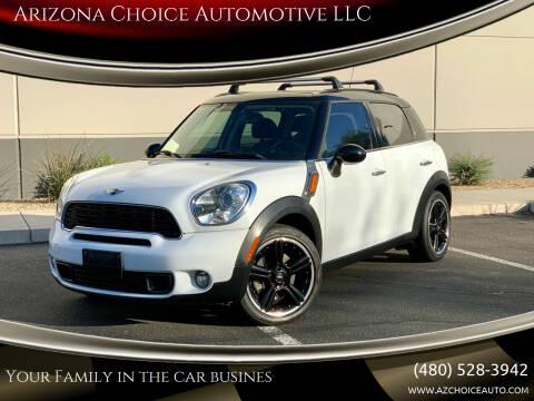 2012 MINI Cooper Countryman for sale at Arizona Choice Automotive LLC in Mesa AZ