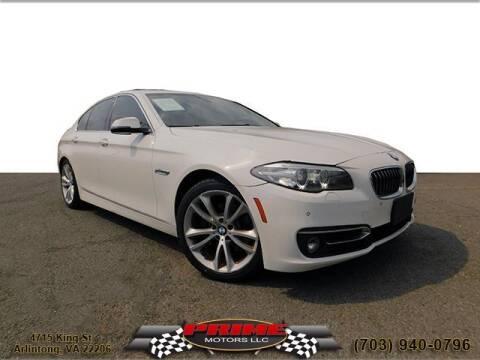 2014 BMW 5 Series for sale at PRIME MOTORS LLC in Arlington VA