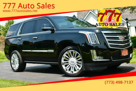 2016 Cadillac Escalade for sale at 777 Auto Sales in Bedford Park IL