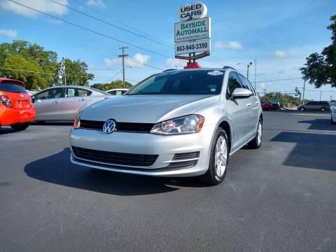 2015 Volkswagen Golf SportWagen for sale at BAYSIDE AUTOMALL in Lakeland FL