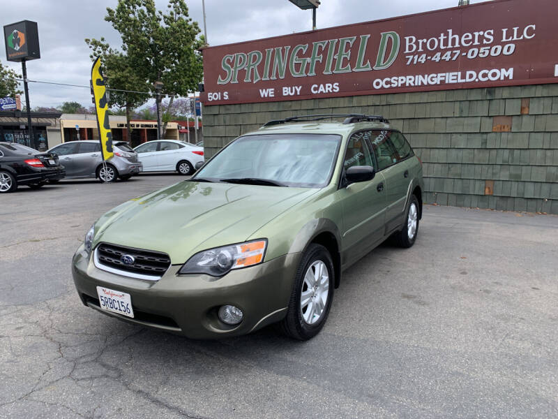 2005 Subaru Outback for sale at SPRINGFIELD BROTHERS LLC in Fullerton CA
