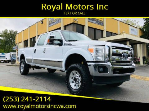 2012 Ford F-350 Super Duty for sale at Royal Motors Inc in Kent WA