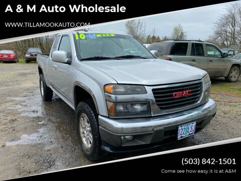 2010 GMC Canyon for sale at A & M Auto Wholesale in Tillamook OR
