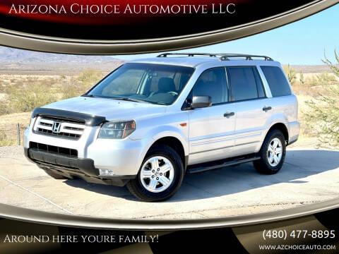 2007 Honda Pilot for sale at Arizona Choice Automotive LLC in Mesa AZ