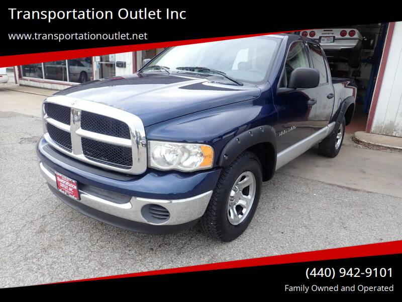 2005 Dodge Ram Pickup 1500 for sale at Transportation Outlet Inc in Eastlake OH