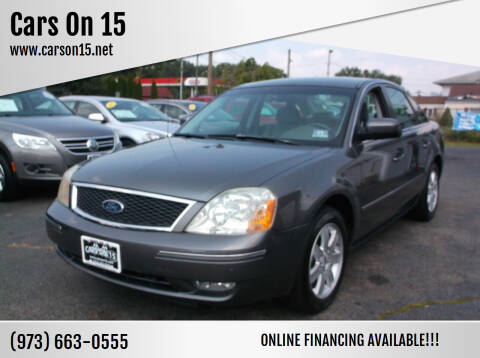 2005 Ford Five Hundred for sale at Cars On 15 in Lake Hopatcong NJ