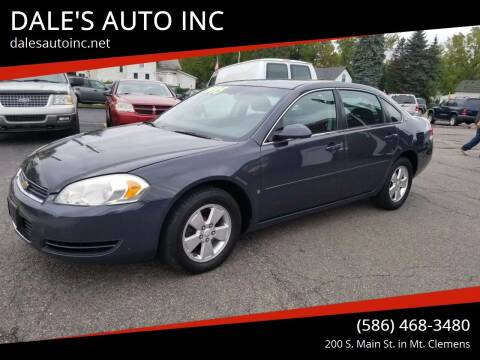 2008 Chevrolet Impala for sale at DALE'S AUTO INC in Mt Clemens MI