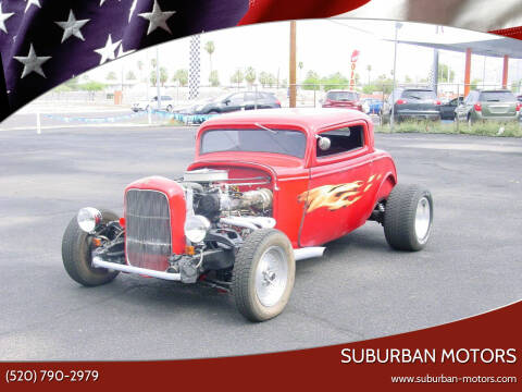 1932 Ford DEUCE COUPE for sale at Suburban Motors in Tucson AZ