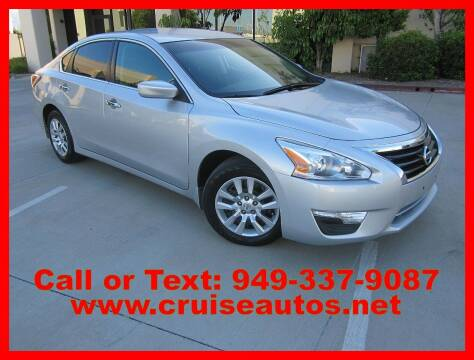 2015 Nissan Altima for sale at Cruise Autos in Corona CA