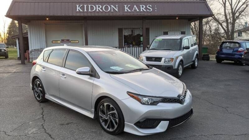 2017 Toyota Corolla iM for sale at Kidron Kars INC in Orrville OH