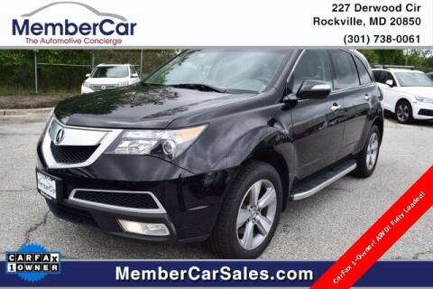 2013 Acura MDX for sale at MemberCar in Rockville MD