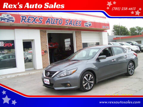 2016 Nissan Altima for sale at Rex's Auto Sales in Junction City KS