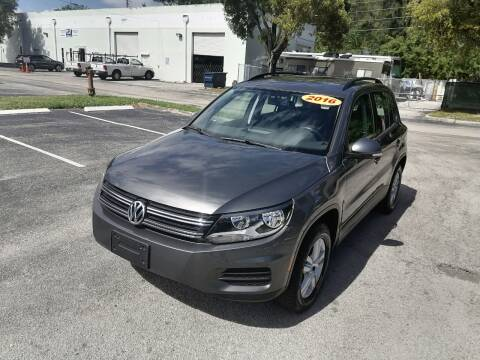 2016 Volkswagen Tiguan for sale at Best Price Car Dealer in Hallandale Beach FL