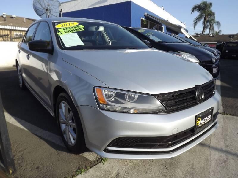 2015 Volkswagen Jetta for sale at PACIFICO AUTO SALES in Santa Ana CA