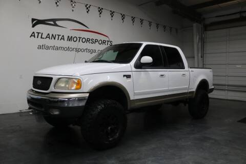 2001 Ford F-150 for sale at Atlanta Motorsports in Roswell GA