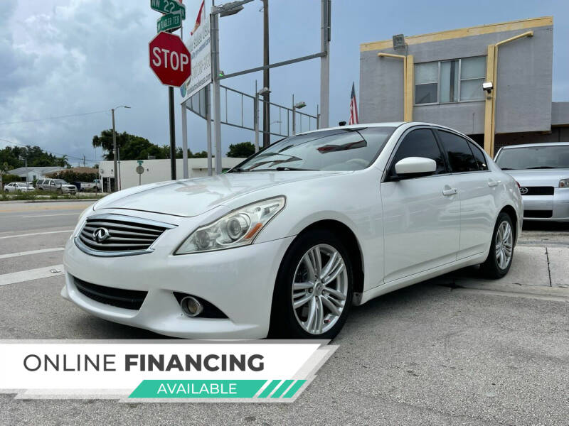 2013 Infiniti G37 Sedan for sale at Global Auto Sales USA in Miami FL