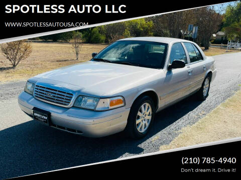 2006 Ford Crown Victoria for sale at SPOTLESS AUTO LLC in San Antonio TX