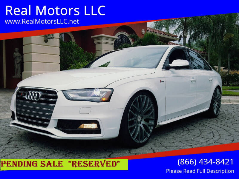 2013 Audi S4 for sale at Real Motors LLC in Clearwater FL