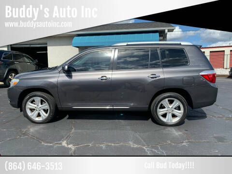 2010 Toyota Highlander for sale at Buddy's Auto Inc in Pendleton, SC