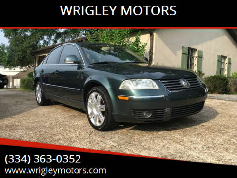 2005 Volkswagen Passat for sale at WRIGLEY MOTORS in Opelika AL