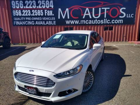 2015 Ford Fusion for sale at MC Autos LLC in Pharr TX