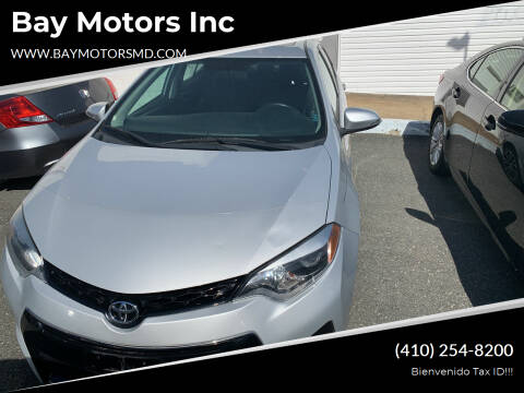 2014 Toyota Corolla for sale at Bay Motors Inc in Baltimore MD