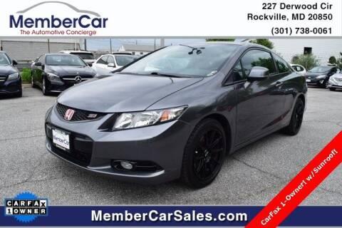2013 Honda Civic for sale at MemberCar in Rockville MD