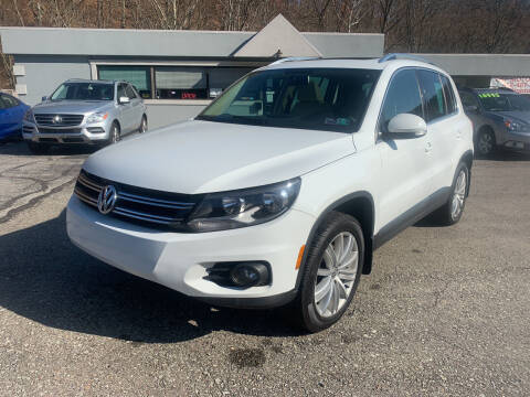2015 Volkswagen Tiguan for sale at B & P Motors LTD in Glenshaw PA