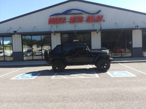 2013 Jeep Wrangler Unlimited for sale at DOUG'S AUTO SALES INC in Pleasant View TN