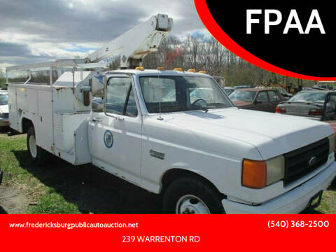 1987 Ford F-350 for sale at FPAA in Fredericksburg VA