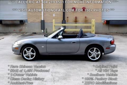 2003 Mazda MX-5 Miata for sale at Automotion Of Atlanta in Conyers GA