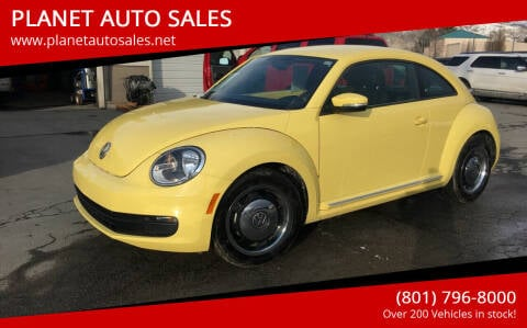 2012 Volkswagen Beetle for sale at PLANET AUTO SALES in Lindon UT